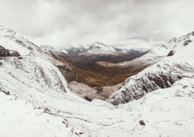 Le col de l'Iseran sous la neige