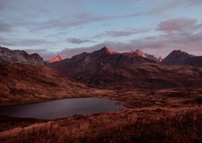 Au col du petit saint-bernard - face au Mont Blanc
