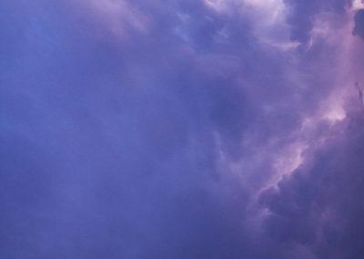Coucher de soleil avant l'orage